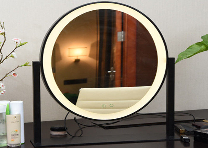 Oval Shape Adjustable Cosmetic LED Desktop Mirror With Lights