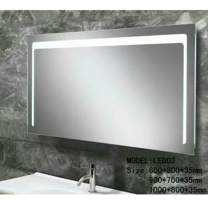 1200x800mm Anti-frog Mirror  Modern Iilluminated Backlit Bathroom Mirrors With Touch Sensor