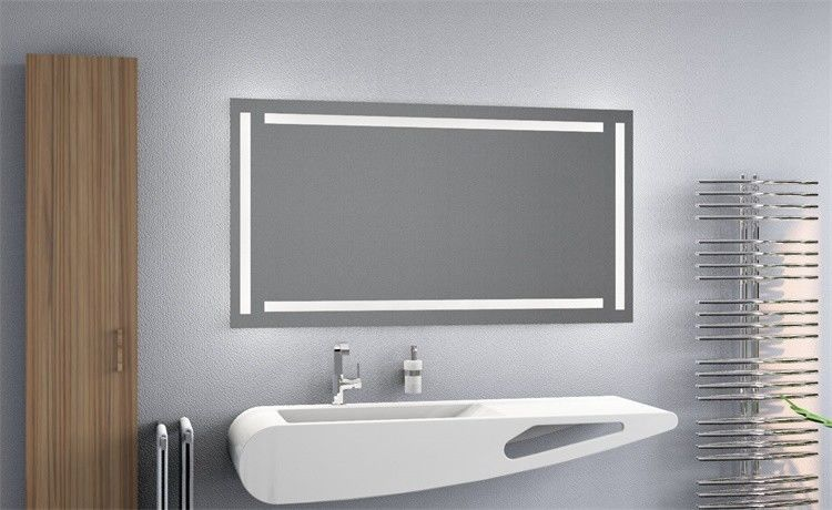 Square Anti Fog Bathroom Mirror The Edge Around Led Light Up Mirror
