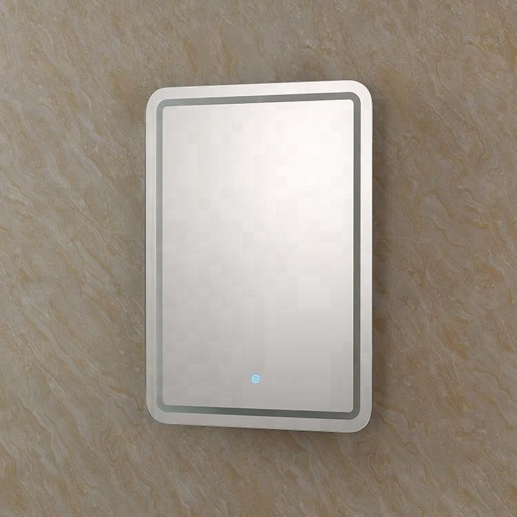 A Grade Aluminum Alloy LED Backlit Mirror Wall Mounted For Hotel
