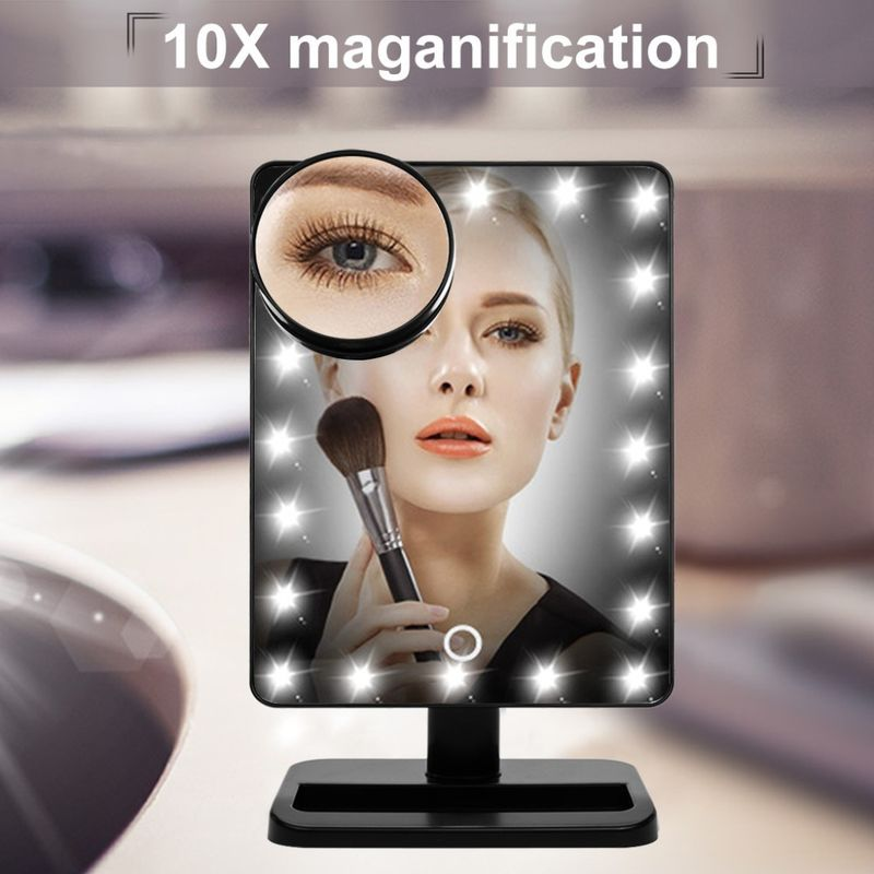 20LED 360degree Moving Led Strip Lights Around Mirror For Makeup 10x