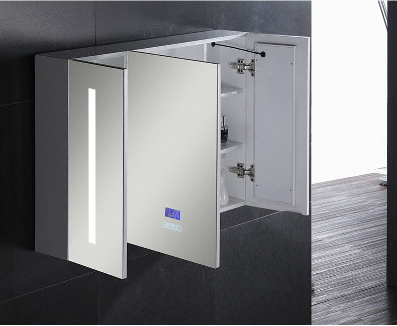 Single Door Ss  Bathroom Vanity LED Mirror Cabinet / Illuminated Wall Cabinets