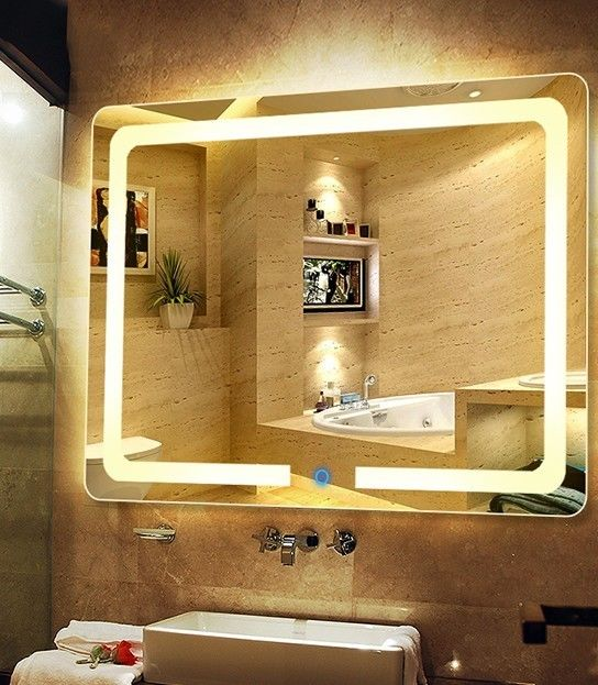 Sheraton Hotel Silver Bathroom Vanity Wall Mirrors Customized 4mm 5mm 6mm